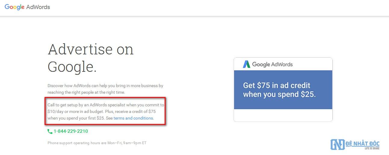Cách lấy mã khuyến mãi Google AdWords từ chính Google