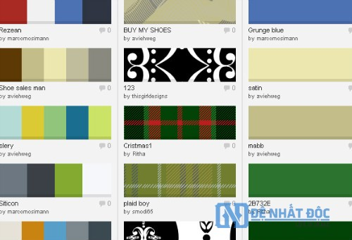 Website phối màu COLOURlovers