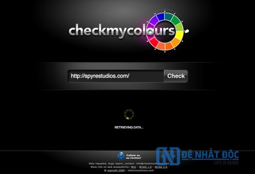 Website phối màu Check my Colours