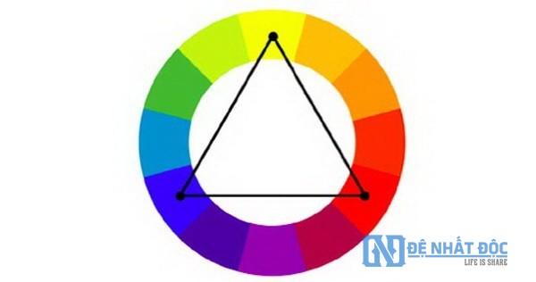 Quy tắc phối màu bổ túc bộ ba Triadic
