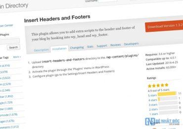 Chèn Code vào Header hoặc Footer của Website/Blog toàn tập