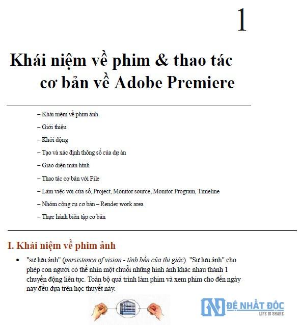 Nội dung cuốn Ebook hướng dẫn sử dụng Adobe Premiere chuyên nghiệp