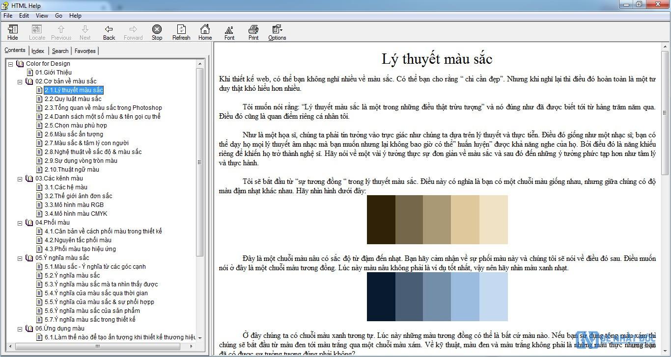 Ebook toàn tập về màu sắc và ý nghĩa của sắc màu