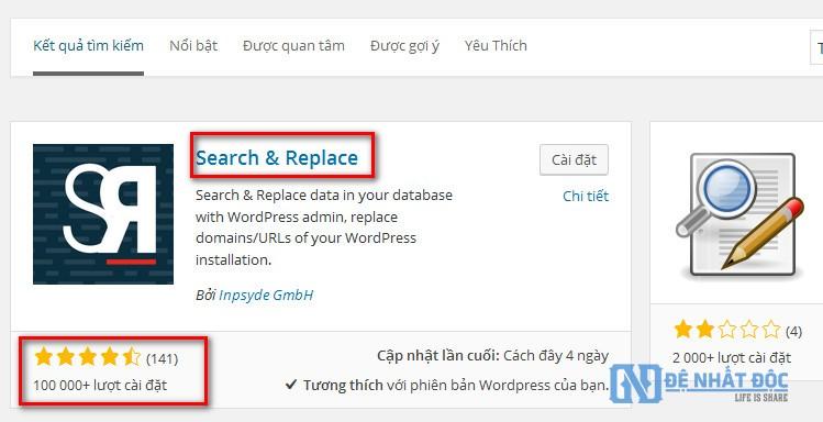 Tải Plugin Search & Replace và cài đặt
