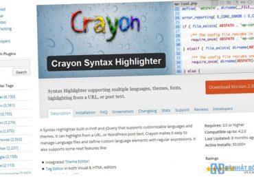 Làm đẹp Code khi chèn vào website với Crayon Syntax Highlighter