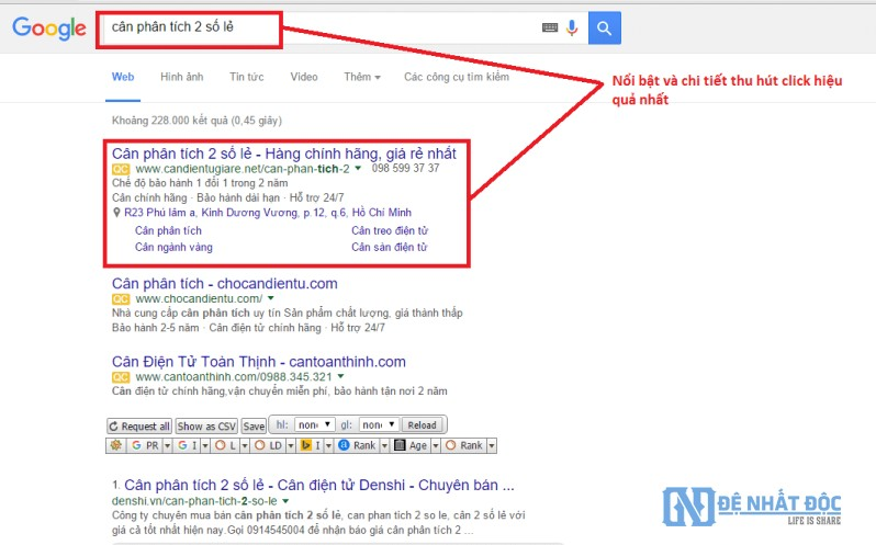Viết mẫu Quảng cáo Google Adwords nổi bật thu hút khách hàng nhiều hơn