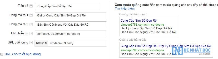 Các yếu tố cấu thành nên mẫu quảng cáo Google AdWords siêu hấp dẫn