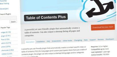Table of Contents Plus-Tạo mục lục tự động chuẩn SEO cho bài viết