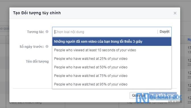 Tạo đối tượng tùy chỉnh xem video