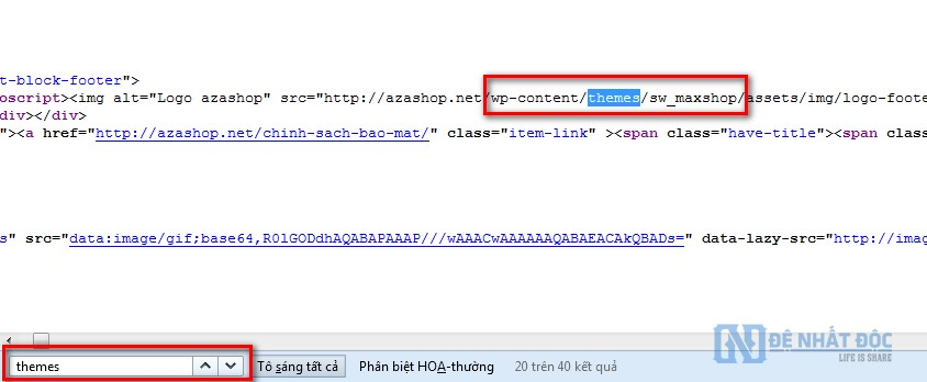 Tìm Theme-Plugin Website bất kỳ bằng cách dò Code