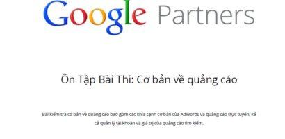 Tài liệu ôn thi Chứng chỉ Google Adwords cơ bản