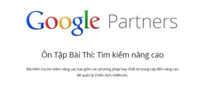 Tài liệu ôn thi Chứng chỉ Google Adwords nâng cao