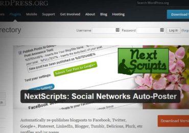 Tự động tạo Backlink từ các mạng xã hội với Plugin Next Scripts