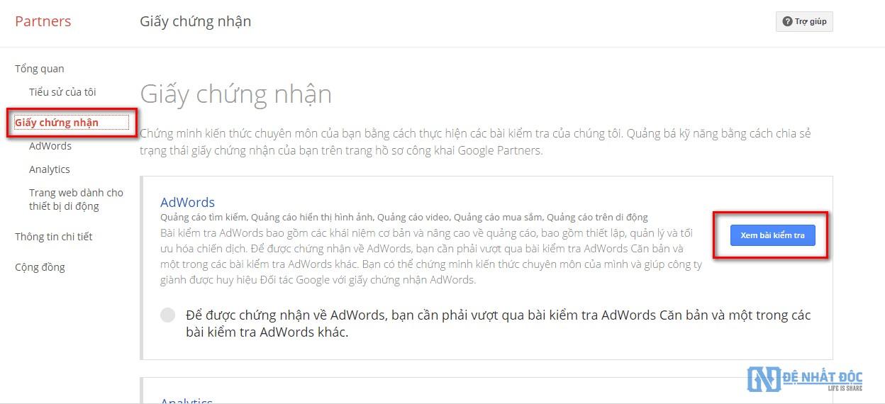 Cách đăng ký tham gia kỳ thi cấp chứng nhận Google AdWords