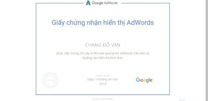 Trọn bộ câu hỏi thi chứng nhận Google AdWords Display Network