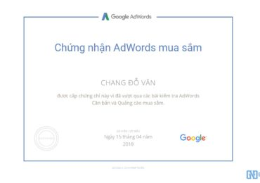 Trọn bộ câu hỏi thi chứng nhận Google AdWords Shopping