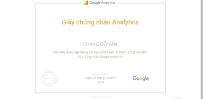 Trọn bộ câu hỏi thi chứng nhận Google Analytics