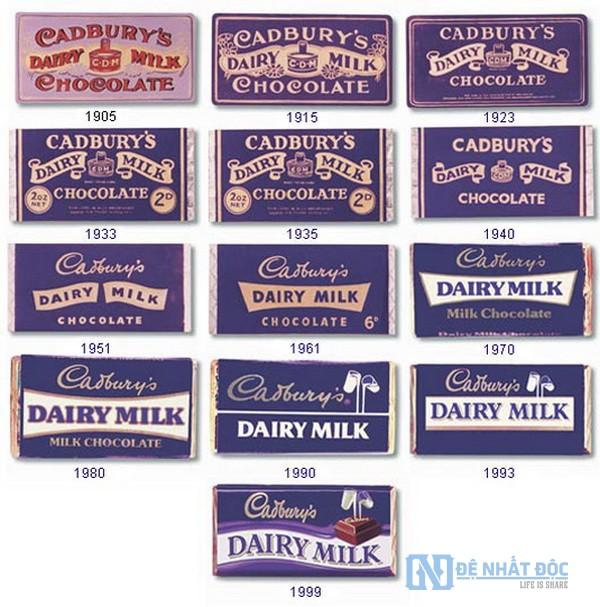 Mọi người dễ dàng nhận biết ra sô cô la của Cadbury