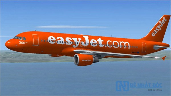 EasyJet sử dụng màu cam ở khắp mọi nơi nó có thể